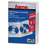 Hama double DVD Jewel Case, Slim 5, transparent
