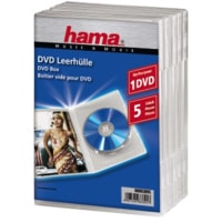 Hama Standard DVD Jewel Case, pack of 5, transparent