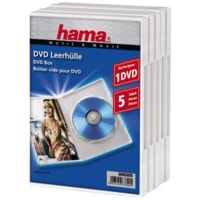 Hama DVD Jewel Case, 5, white