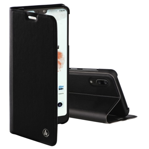 HAMA SLIM PRO BOOKLET FOR HUAWEI P20, BLACK